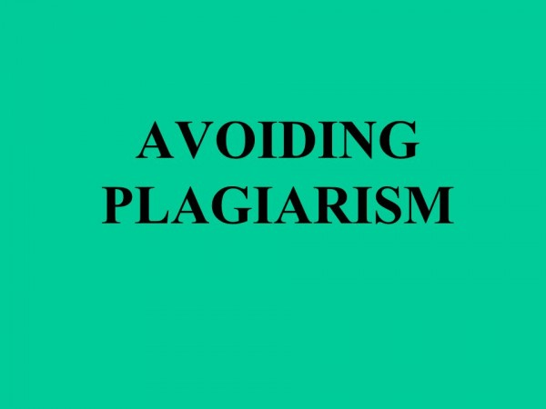 Plagiarism in writing